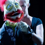 Photograph of Puppet Jos Whedon from Whedonesque Burlesque 2